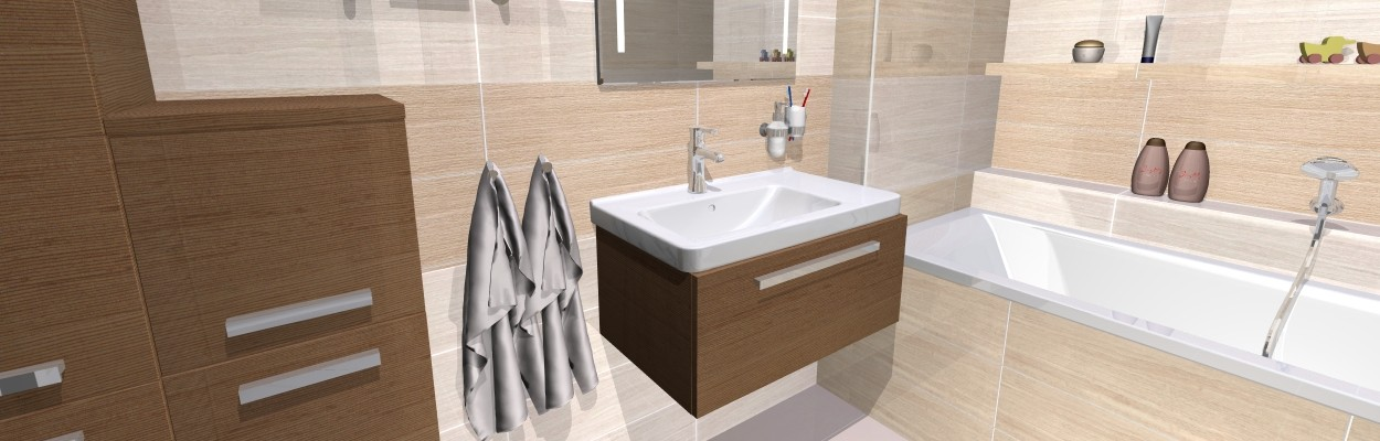 3D návrhy koupelen